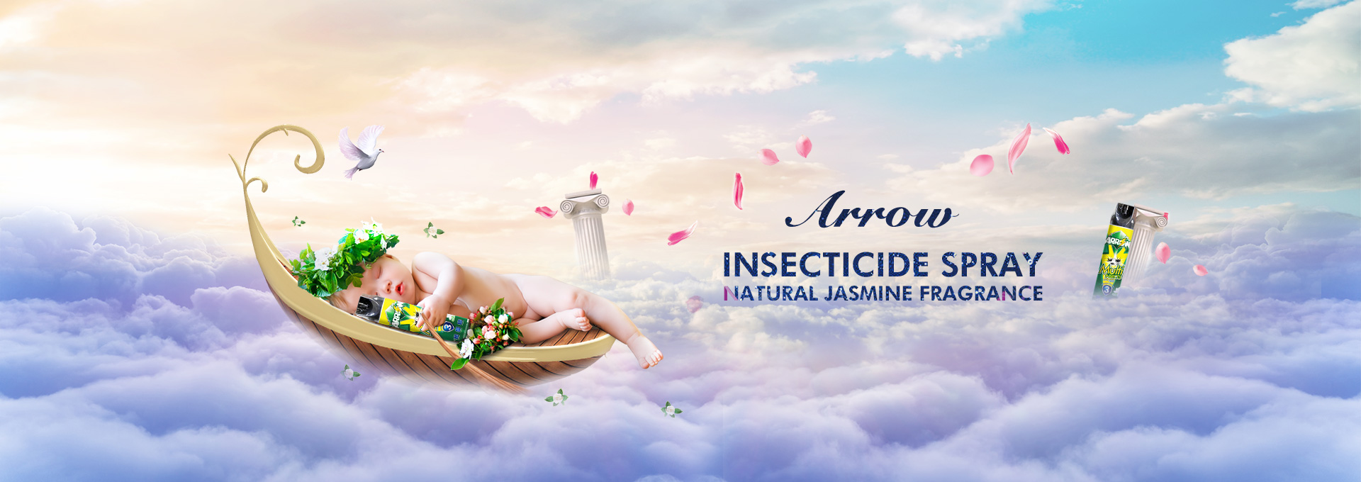 insecticide spray natural jasmine fragrance 600ml ARROW